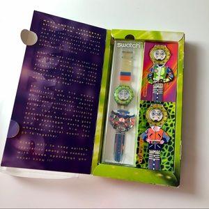 Swatch Quartz Strepp Vintage Watch Spaceworld 1996